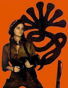 Patty Hearst, a sexy woman with a gun