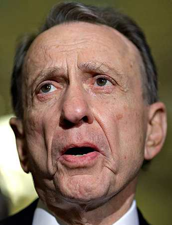 Senator Snarlin' Arlen Specter (R--whoops, D--PA)